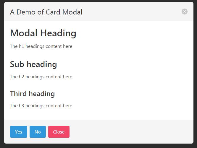 bulma modal card