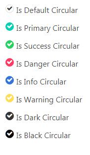 cool checkbox circular