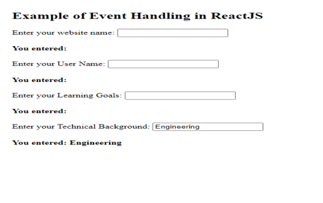 ReactJS event example
